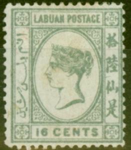 Labuan 1894 16c Grey SG56 Fine Mtd Mint