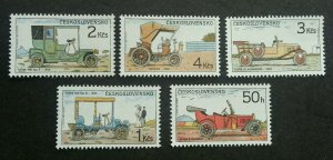 Czechoslovakia Vintage Cars 1988 Classic Old Time Transport Vehicle (stamp) MNH