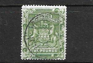 RHODESIA 1892 5pound GREEN FU SG 12
