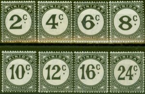 Trinidad 1947 P.Due set of 8 SGD26-33 Fine Lightly Mtd Mint
