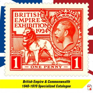 BRITISH EMPIRE & COMMONW. 1840-1970 SPECIALIZED PDF DIGITAL CATALOGUE (600+ pgs)