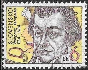 Slovakia 197 Used - Personalities - Wolfgang von Kempelen (1734-1804)