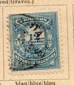 Argentina 1884 Early Issue Fine Used 12c. NW-11804