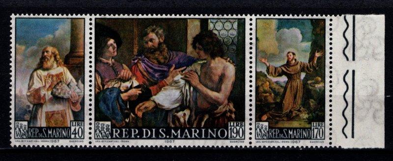 San Marino 1967 Paintings by Francesco Barbieri, Marginal Set [Mint]