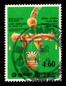 Sri Lanka 1985 Land Development Ordinance 4.60r Scott.770 Used (#4)