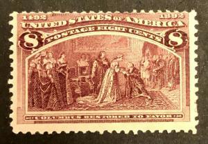 TangStamps US Stamp #236 Mint OG H Columbian