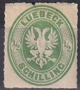 LUbeck #8 Unused  CV $50.00  Z1125
