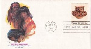 1977, Pueblo Art-Sab Ildefonso, Fleetwood, FDC (E12291)