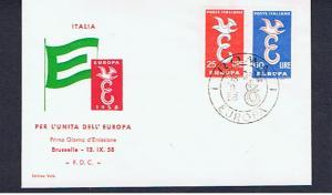 ITALY 1958 EUROPA FDC