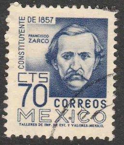 MEXICO 900, 70¢ 1950 Definitive 2nd Printing wmk 300 USED. VF. (845)
