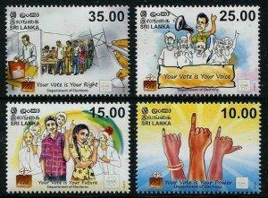 HERRICKSTAMP NEW ISSUES SRI LANKA Sc.# 1982-85 60th Anniv. of the Election Dept
