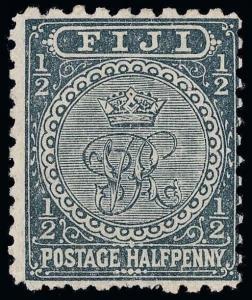 Fiji Scott 53a Variety 2 Gibbons 92 Mint Stamp