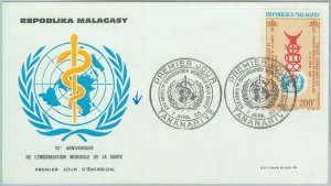81131 -  MADAGASCAR  - POSTAL HISTORY - FDC COVER  1968  MEDICINE  WHO Medicine