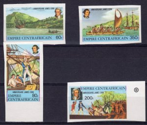 Central African Empire 1978 Sc#341/344 Cap.COOK Set (4) IMPERFORATED  MNH