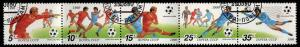 Russia Scott 5895-5899a  Used CTO  World Cup Soccer strip