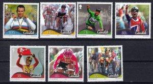 Isle of Man --2012-   Mark Cavendish Cyclist  MNH  Set   # 1506-1512