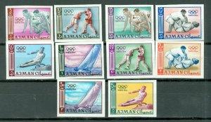 AJMAN OLYMPICS IMPERF. SET #27-36...MNH...$7.50