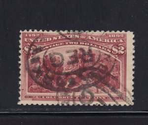 242 F-VF used neat cancel with nice color cv $ 575 ! see pic !