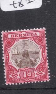 Bermuda 1d Boat SG 32 MNH (5dlv)