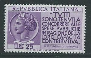 Italy 651 1954 Italia MNH