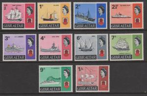 Gibraltar Sc#186-195 Ex191A Short Set MH