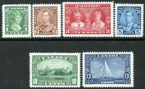 CANADA-1935 Silver Jubilee Set Sg 335-340 MOUNTED MINT V35432