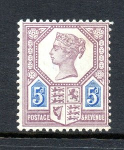 GB QV SG207 5d Dull Purple and Blue Die I Jubilee Issue Unmounted Mint CV £1100