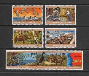 BIRDS - SENEGAL#473-8  MNH