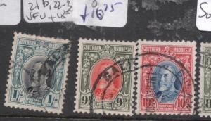 Southern Rhodesia SG 21b,22-3 VFU (2dhb)