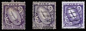 IRELAND Sc 72, 113, 226 All 3 versions of the 5p Sword of Light Issue-CV>$16