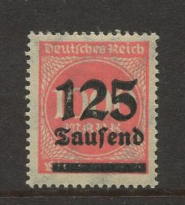 Germany -Scott 255- Definitive Issues -1923 - MLH -Single 125th on a 1000m Stamp