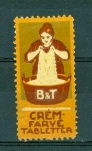 Denmark. Poster Stamp.  B&T Crem Dyeing.