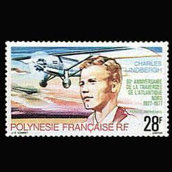 FR.POLYNESIA 1977 - Scott# C149 Lindbergh Set of 1 NH