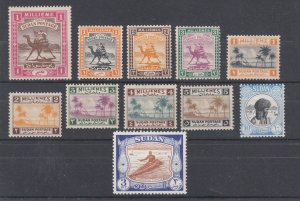 Sudan Sc 9/106 MLH. 1898-1951 issues, 11 different early singles, F-VF.
