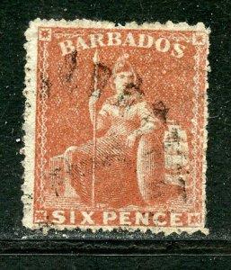 Barbados # 20, Used. CV $ 37.50
