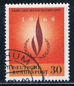 Germany 992 Used Human Rights flame (GI0451P106)+