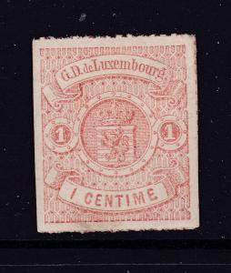 Luxembourg an old 1c MH roulette from 1859