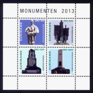 Suriname Sc# 1457 MNH Monuments 2013 (M/S of 4)