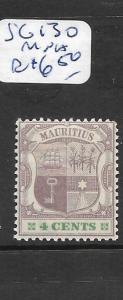 MAURITIUS (P1901B) ARMS 4C  SG 130  MNH