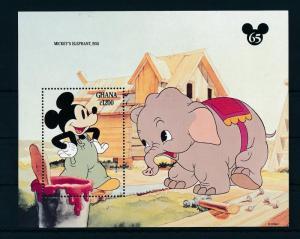[22415] Ghana 1994 Disney 65th Birthday Mickey Mouse with Elephant MNH