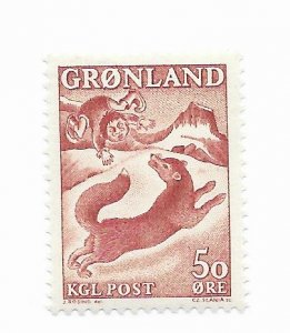 Greenland #42 MH CAT VALUE $1.25