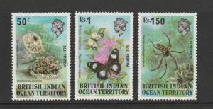 BIOT 1973 Wildlife UM SG 53/55