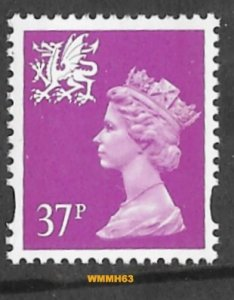 Great Britain-Wales  #WMMH63  37p QE II - Jul 23 1996  (1) Mint NH