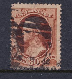 USA a 30c brown used from the 1870 series