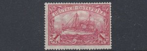 GERMAN EAST AFRICA  1901  S G 23   1R   CLARET     MH