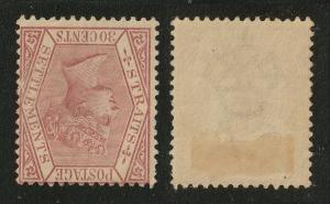 Malaya Straits Settlements 1891 QV 30c CA MH Wmk Inverted SG#69w M2158