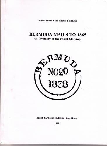 Book - Bermuda Mails to 1865 Postal Markings from 1702