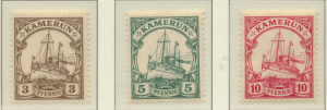 Cameroun (German Occupation) Stamps Scott #20 To 22, Mint Hinged - Free U.S. ...
