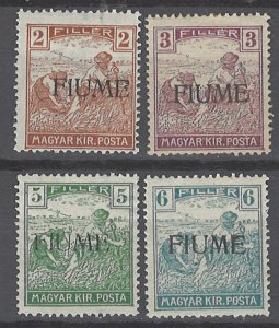 COLLECTION LOT # 2013 FIUME #3-6 MNH/MH/UNUSED NO GUM 1918 CV= $27