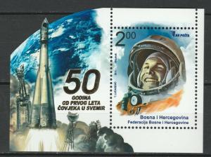 Bosnia and Herzegovina 2011 Space Gagarin MNH Block
